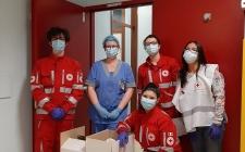 Croce Rossa in supporto ai reparti COVID dell'Ospedale Civile di Vigevano
