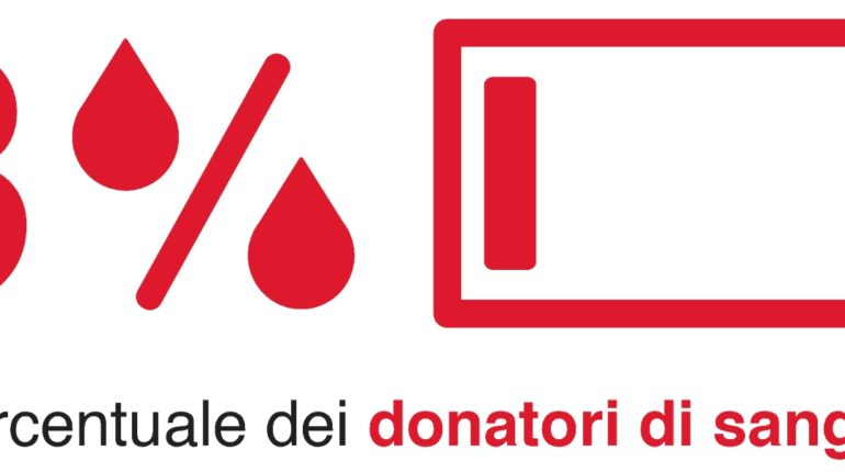 Donazione sangue 3%
