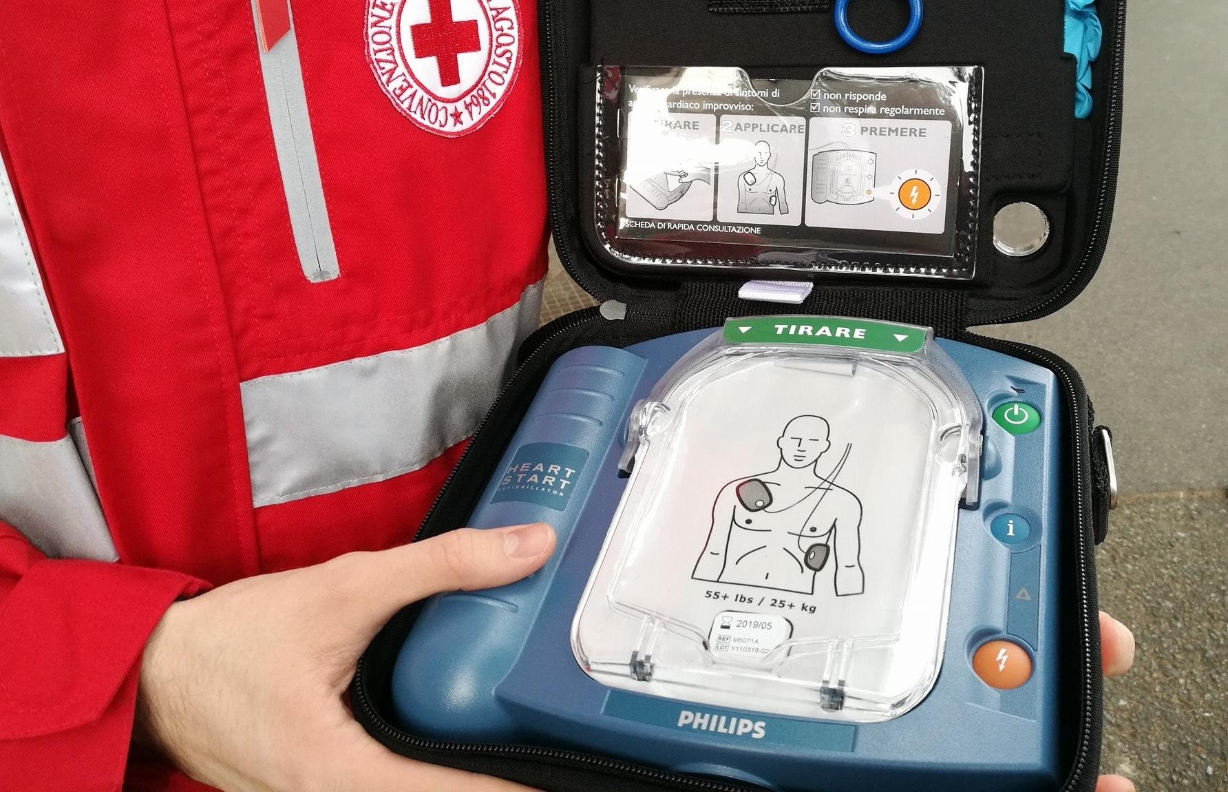 Defibrillatore Croce Rossa Vigevano