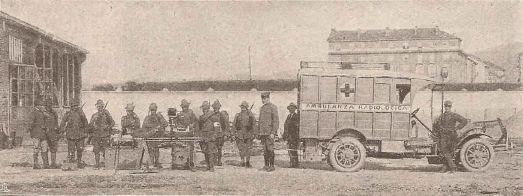 ambulanza radiologica vigevano prima guerra mondiale