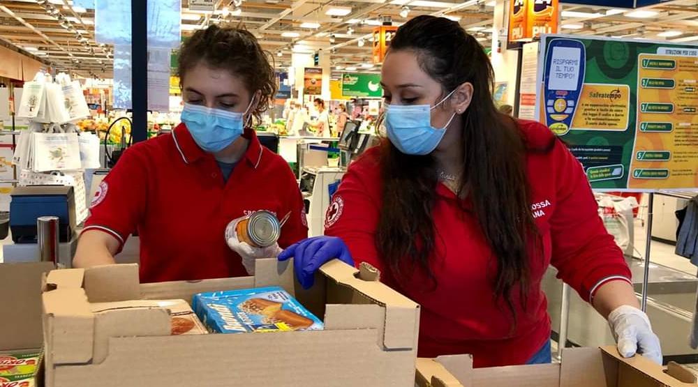 COVID19 Vigevano assistenza sociale Croce Rossa